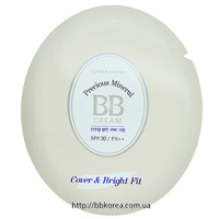 Пробник Etude House Precious Mineral BB Cream Cover & Bright Fit SPF30/PA++