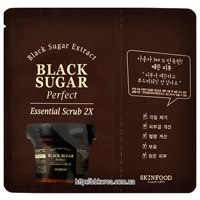 Пробник Skinfood Black Sugar Perfect Essential Scrub 2X
