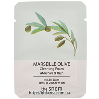 Пробник The Saem Marseille Olive Cleansing Foam - Moisture & Rich