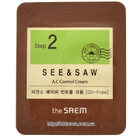 Пробник THE SAEM See & Saw A.C Control Cream