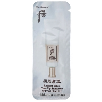 Пробник The History Of Whoo Radiant White Tone Up Sunscreen SPF50+ PA++++ x10шт