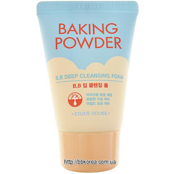 Etude House Baking powder B.B. deep cleansing foam - пенка для умывания