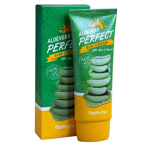 FARMSTAY Aloevera Perfect Sun Cream SPF50+ PA+++