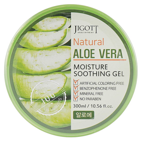 JIGOTT Natural Aloe Vera Moisture Soothing Gel - гель с алое для лица