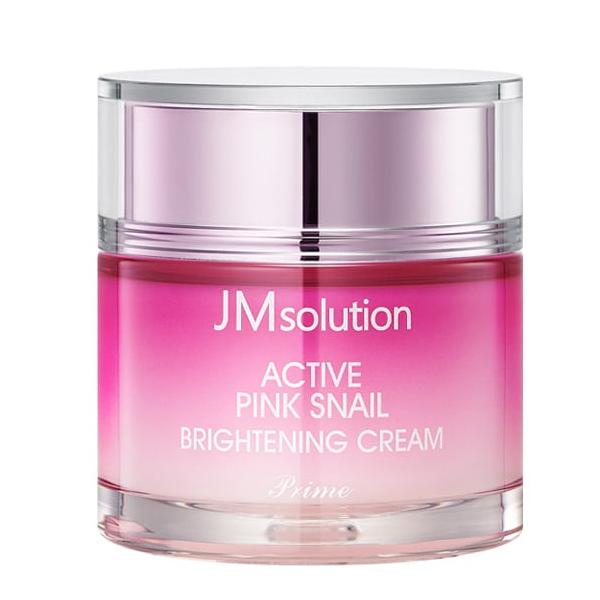 JMsolution Active Pink Snail Brightening Cream Prime - крем для лица с экстрактом улитки
