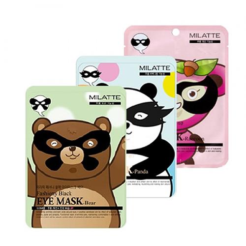 MILATTE Fashiony Black Eye Mask - корейские омолаживающие патчи под глаза