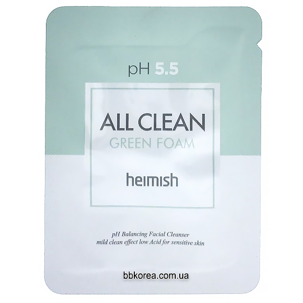 Пробник Heimish All Clean Green Foam x10шт