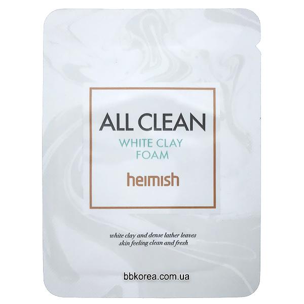 Пробник Heimish All Clean White Clay Foam x10шт - пенка от прыщей