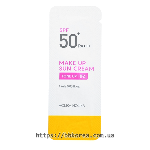 Пробник Holika Holika Make Up Sun Cream SPF50+ PA+++