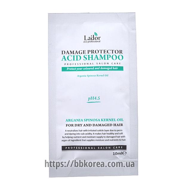 Пробник LADOR Damage Protector Acid Shampoo