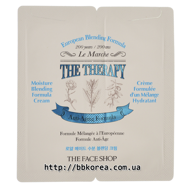 Пробник THE FACE SHOP The Therapy Moisture Blending Formula Cream x10шт